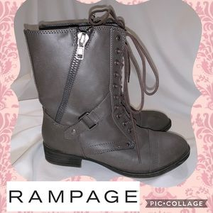 NWOT Rampage short combat boots with zippers